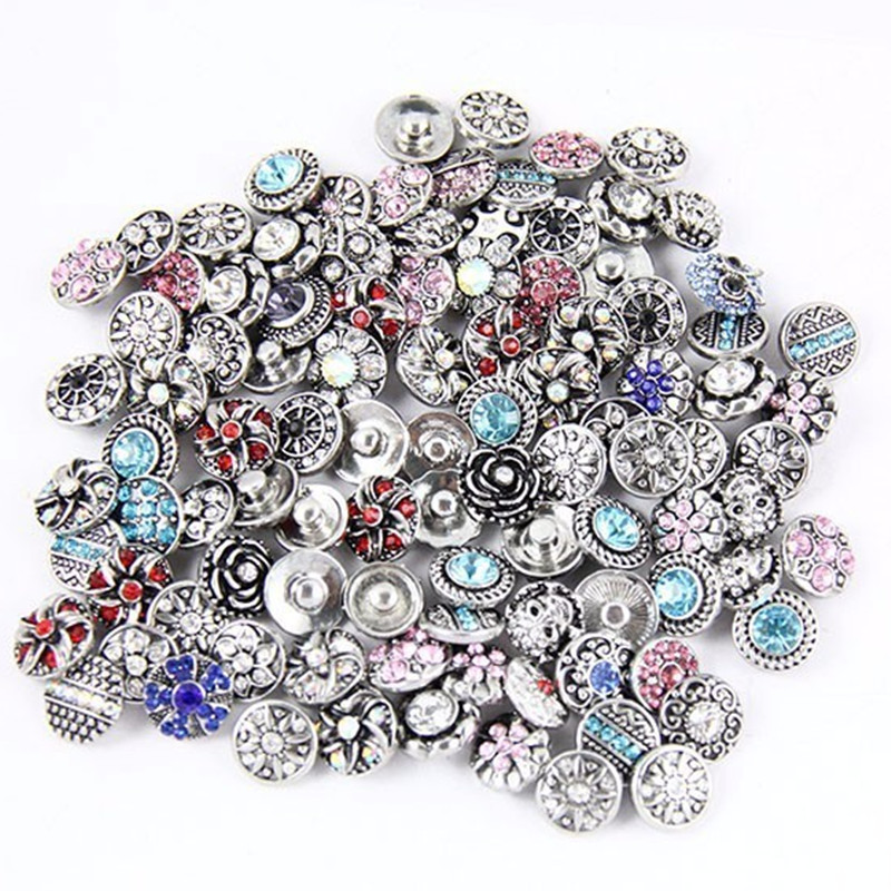 new Many Stock 30pcs/lot high quality mix many styles crystal bangle watches Bracelets fit 12mm snaps buttons diy jewelry image