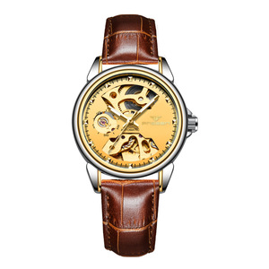 Image 5 - 2019 יוקרה נקבה שעון אוטומטי מכאני עסקי שעון גבירותיי שעונים עמיד למים חלול ורוד מכונאי שעון לנשים מתנה