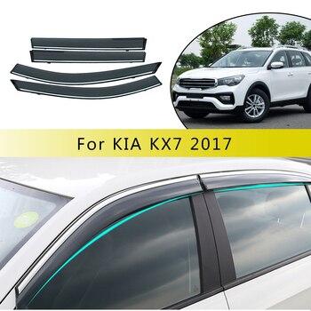 For KIA KX7 2017 2018 2019 Smoke Window Sun Rain Visor Deflector Guard Sunny visor Accessories  4Pcs
