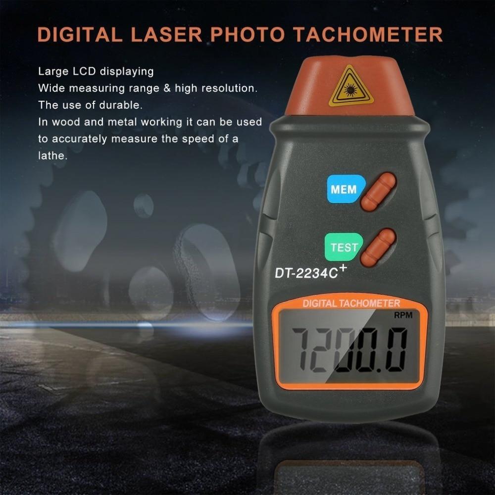 Novo conjunto 1 Digital Laser Tacômetro RPM Medidor de Não-Contato Do Motor Medidor de Velocidade Revolução Rotação Atacado