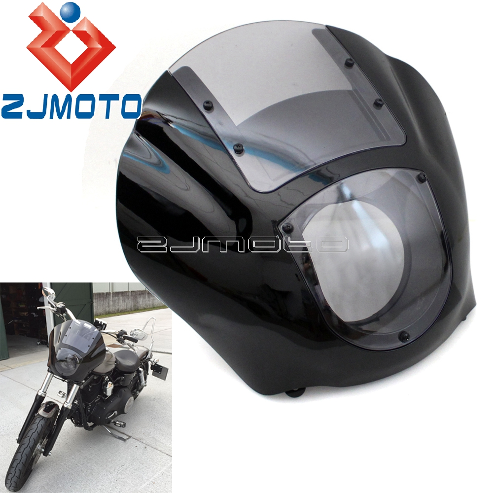 Motorcycle Headlight Fairing For Harley XL1200 Dyna Quarter Fairing Iron 883 XL883N 2009 2017 FXR 1986