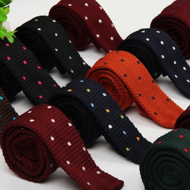 TagerWilen Men's Suits Knit Tie Plain Necktie For Wedding Party Tuxedo Casual Dots Woven Skinny Gravatas Cravats Accessories