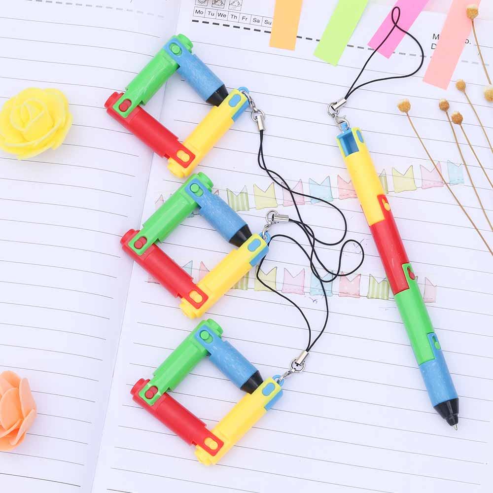 TOMTOSH Foldable Ballpoint Pen Stitch Pen Wholesale Bend Pen Creative Student Prize Item Pen 3