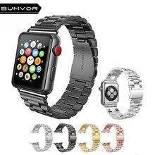 Luxury Stainless Steel metal band Strap for Apple Watch 44/40/42/38MM bracelet wrist belt Watchband iWatch4/3/2/1 Accessorie