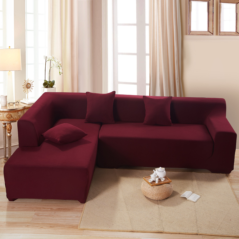 free shipping pure colo stretch the whole package combination sofa cover single four couch cushion antiskid - Free Colo