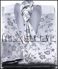 dress Bridal Tuxedos man s polyester silver floral waistcoat 4pcs