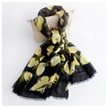 180x90 cm Lemon Pattern Luxury Brand Scarf Women Cotton Foulard Female Journey Decoration Shawl New
