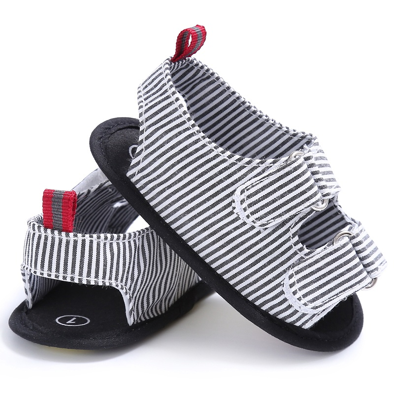 Baby Boy Sandals Summer Stripe Canvas Kid Shoes Soft Baby Toddler Shoes