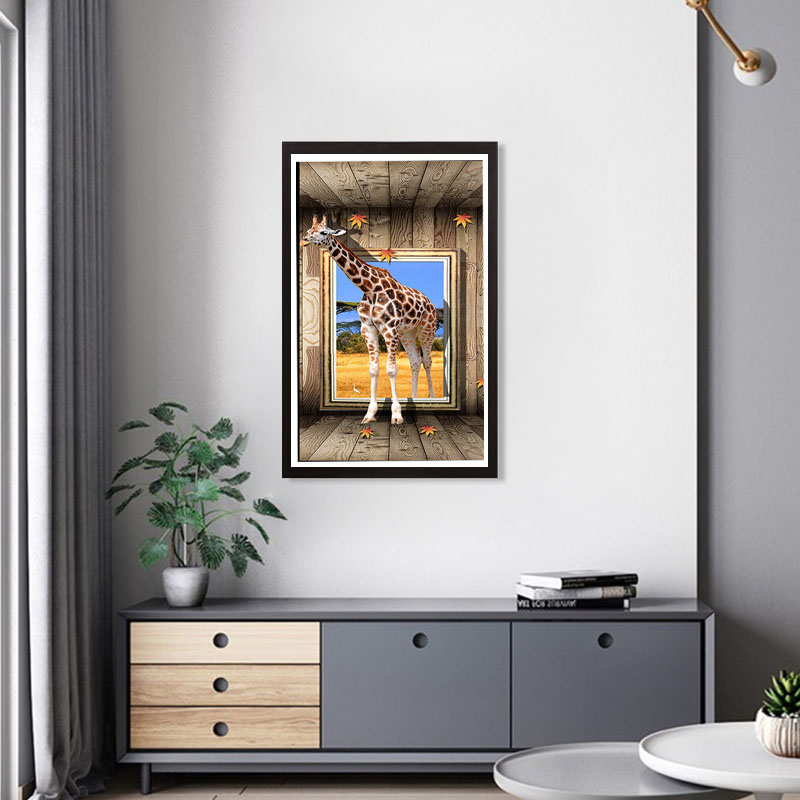 Diamond Painting Animals Giraffe DIY Full Drilling Scenery Round Drill 3D Embroidery Cross Stitch 5D Home Decor Gift in Diamond Painting Cross Stitch from Home Garden