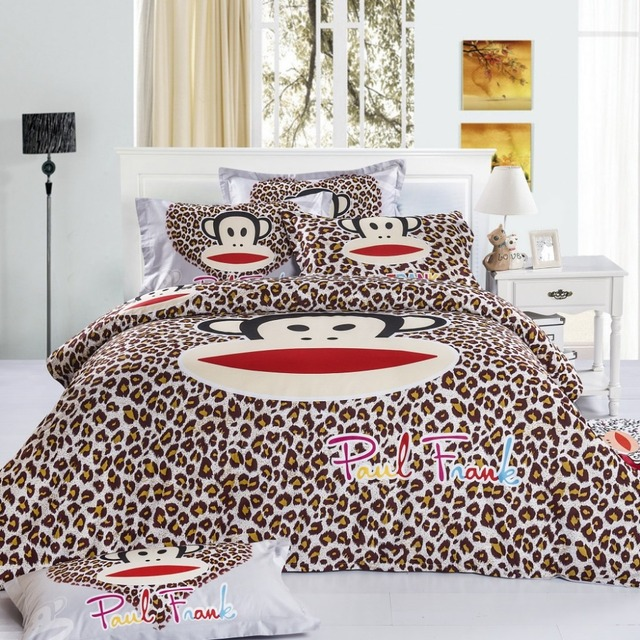 Fast Shipping 100 Cotton Kids Bape Leopard Bedding Set Cartoon Queen Size  Bed Sheets King Size