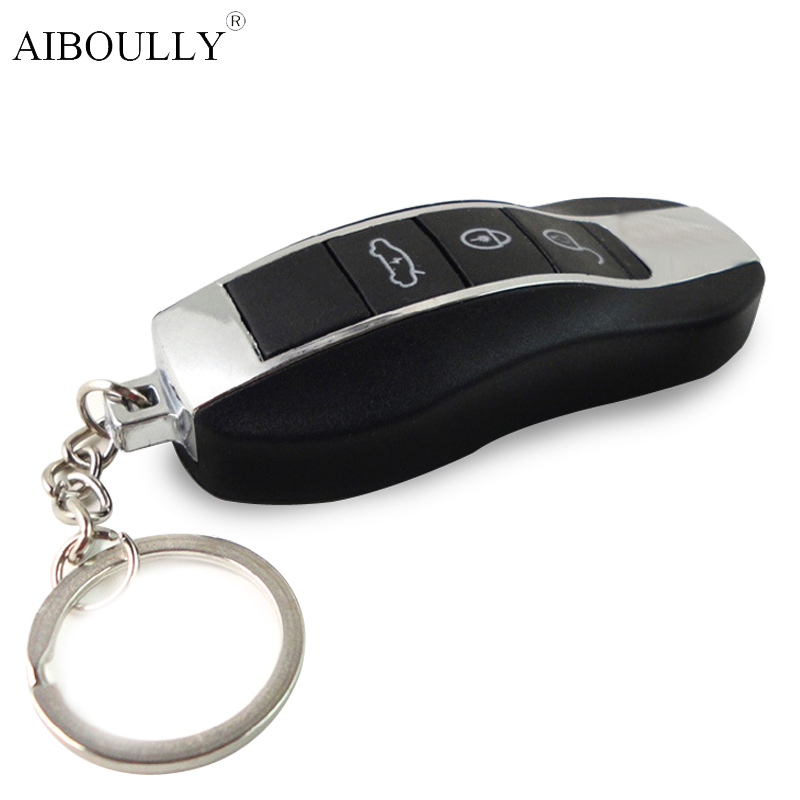 Electric Shock LED Car Opener Key Spoof Tricky Glow Keychain Prank Antistress Gadget Fun Novelty Toys For Children Adult