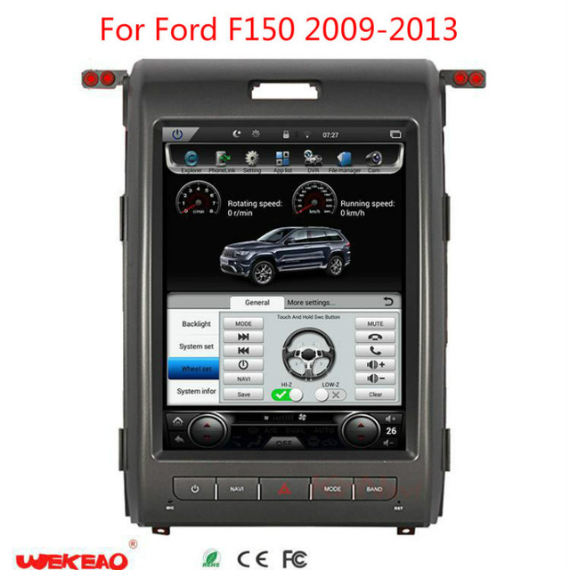 """Wekeao Tesla Style 12.1""""  auto AM/FM stereo Radio Android 6.0 Car DVD Multimedia Player For Ford F150 Support 4K HD Mirror Link"""