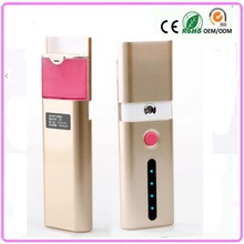 Multi-Function External Battery Mobile Power Bank for iphone + Nano Facial Handy Mist Sprayer Face Steamer