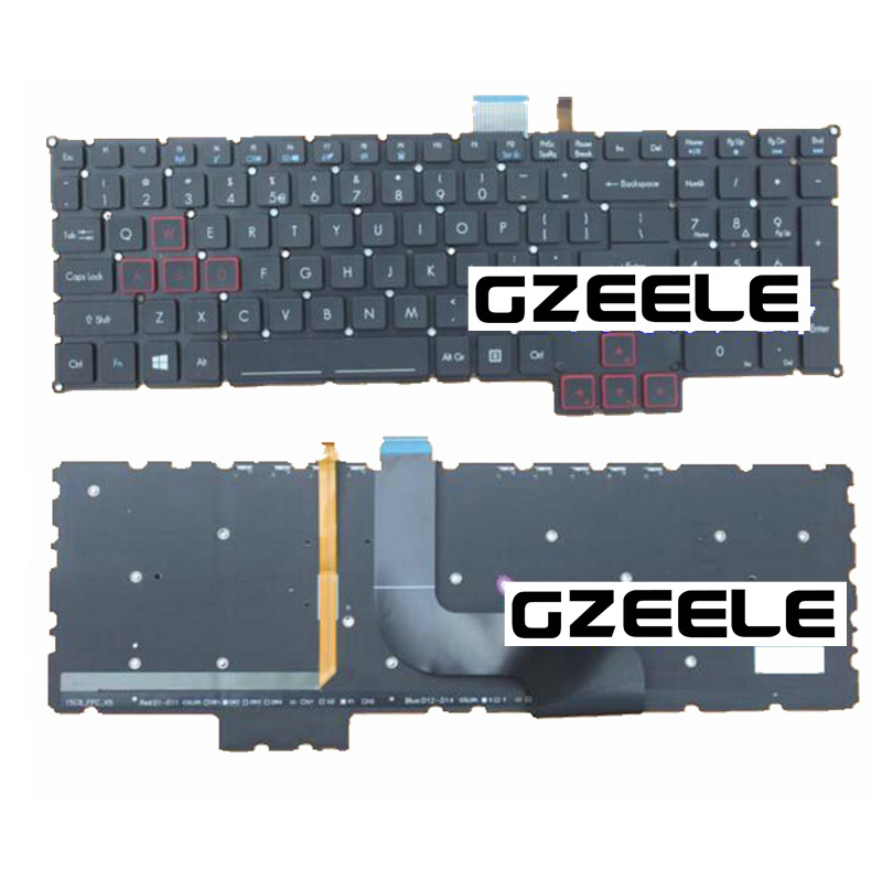 English New Keyboard for Acer Predator 17 15 G9-791 G9-791G G9-591 G9-591G G9-591R US laptop Keyboard laptop keyboard for acer silver without frame bulgaria bu v 121646ck2 bg aezqs100110