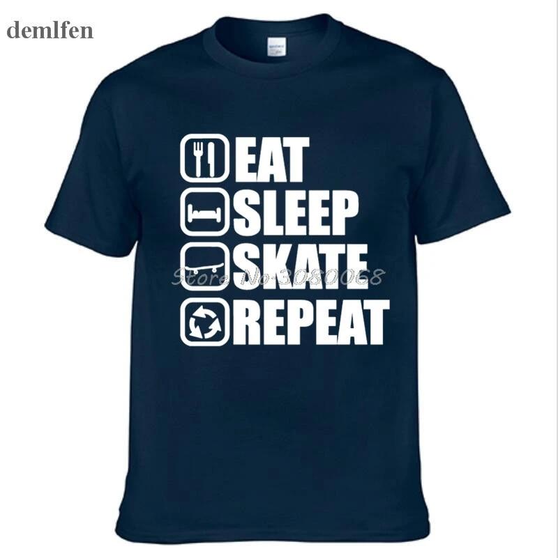 Skateboard Skateboarder Eat sleep Skate Pattinatrice Maglietta