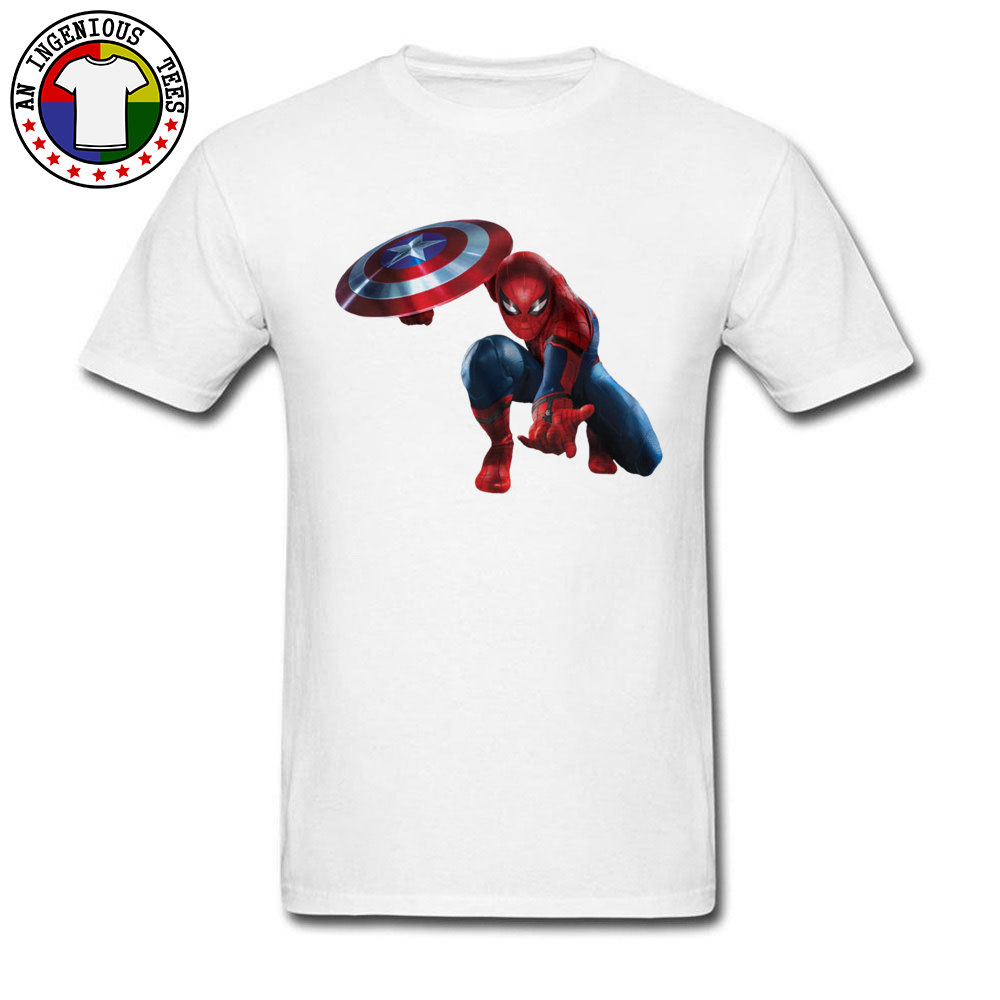Cool Men T-shirts Super Spider Man Party T Shirt Discount Promotion Men's Captain America Print Tshirt On Sale Best Gift image