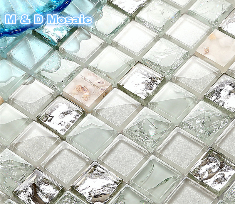 Meer Sheel Wei Grn Kche Backsplash Fliesen Diy With Mosaik Fliesen.
