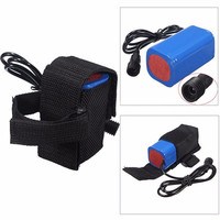 8 4V 6400mAh Rechargeable 4x 18650 Battery Pack For Head Lamp Bike Bicycle Light Cycling Bicycle