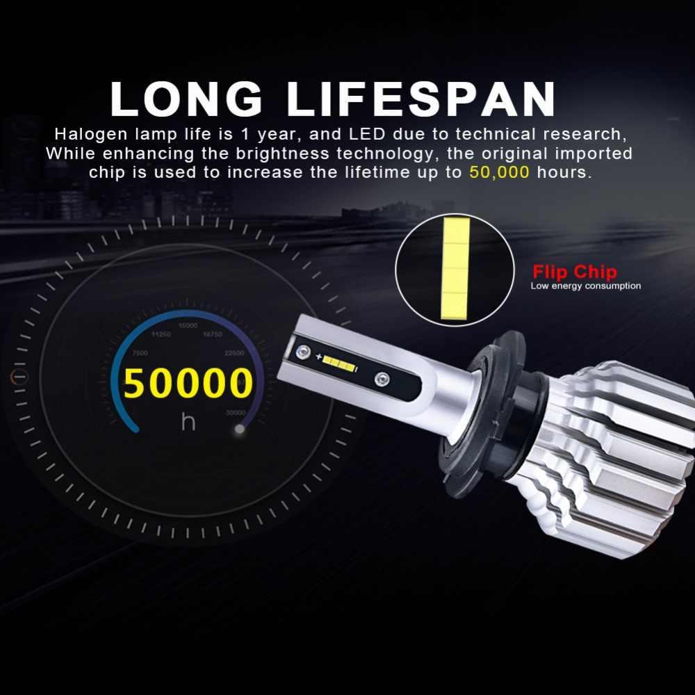 Foxcnsun LED H4 Car Bulbs 6500K Auto H7 LED Headlight Fan-less Head Lamp SUV 50W CSP Chips H11 9005 9006 led H3 H1 Bulbs H15 H8