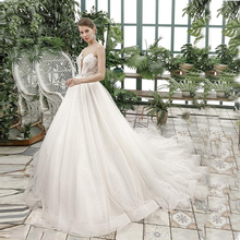 Verngo Appliques Ball Gown Wedding Dress Ivory Organza Tulle Gowns Backless Elegant Bride