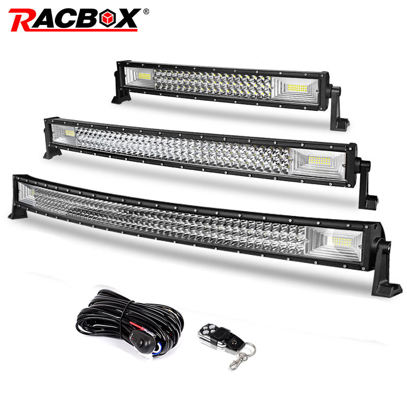 22 32 42 inch barre de lampe LED tout-terrain 324 w 459 w 594 w faisceau Combo de tache d'inondation pour Jeep 4x4 ATV 4WD camion SUV 12 V 24 V LED lumière de travail