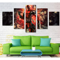 HD Printed Deadpool Comic Wall Pictures For Living Room Unframed 5 Pcs Home Decor Modular Pictures Wall Art Canvas Oil Painting