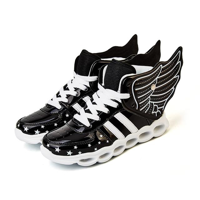 Crianças levou luminosa shoes meninos meninas de carregamento usb lighted esporte shoes luzes piscando sneakers (criança/little kid/big kid)