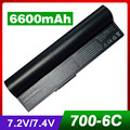 6600mAh laptop battery for ASUS 90-OA001B1000 A22-700 A22-P701 A23-P701 P22-900 Eee PC 900 700 701 4G 8G