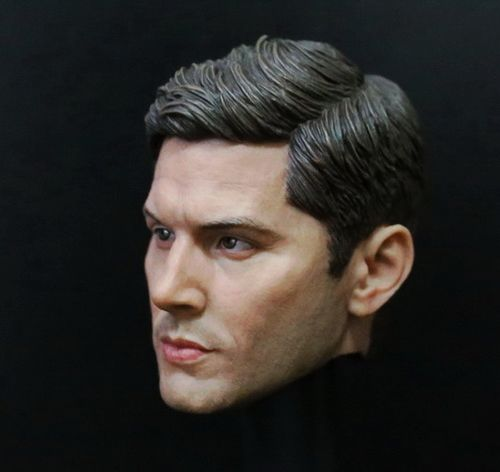 1/6 Male Head Sculpt Supernatural Dean Winchester Headplay Jensen Ackles Head Carved Model Toys Fit 12 Action Figure Body