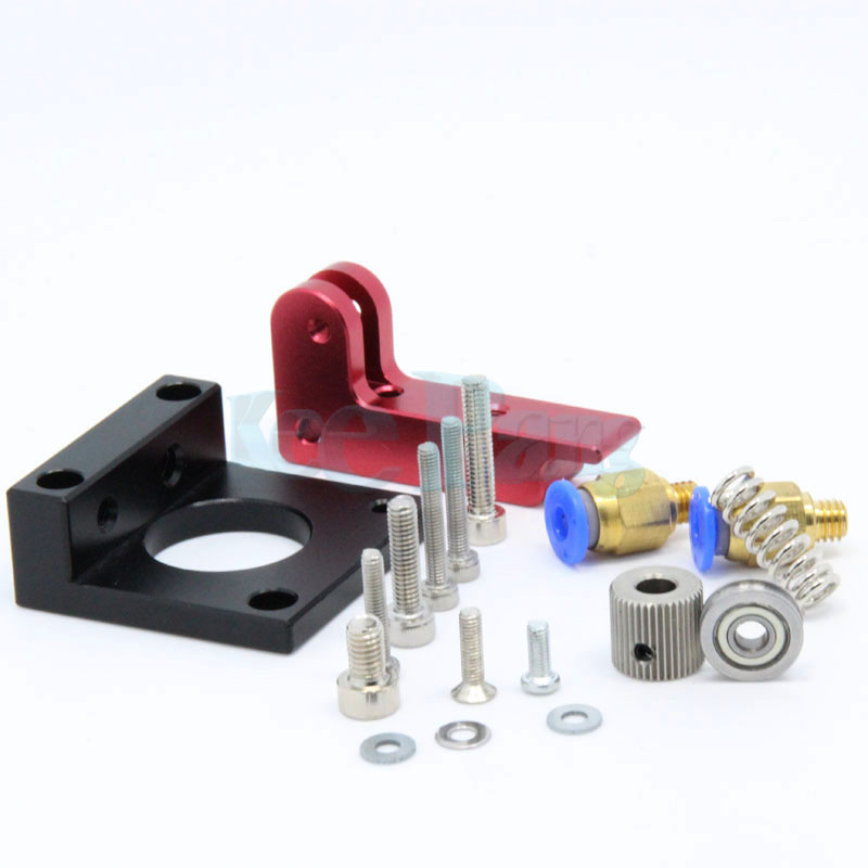 Kee Pang MK8 Full Metal Remote Extruder Kit Aluminum Alloy Extruder Bowden Right /Left Hand 1.75MM Filament DIY 3D Printer Parts