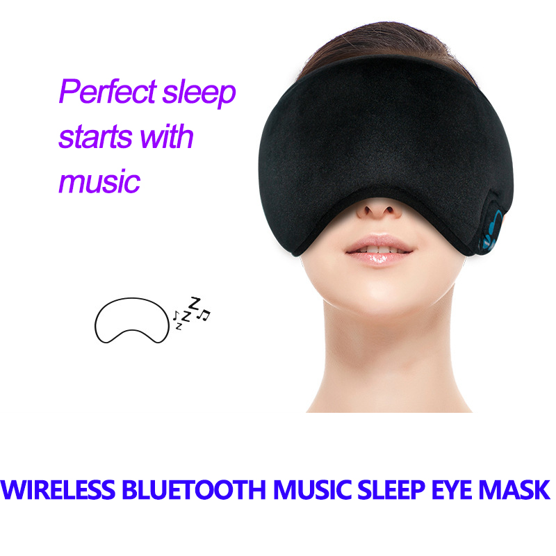 New Wireless Bluetooth Music Sleep Mask Headphones Comfortable Washable Eye Mask Smart Noise Cancelling Earphone Remote(China)