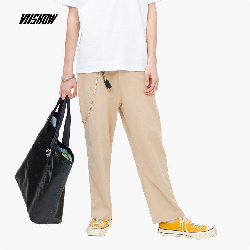 VIISHOW 2019 Zomer nieuwe casual broek mannen Japanse mannen straight broek studenten dragen lange broek trend KC1394192-in Casual Broek van Mannenkleding op AliExpress - 11.11_Dubbel 11Vrijgezellendag 1