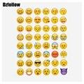 10 hojas caliente etiqueta engomada popular de 480 Emoji pegatinas cara de la Sonrisa para el cuaderno, mensaje de Twitter Instagram Large Viny