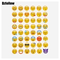 10 sheets hot popular sticker 480 Emoji Smile face stickers  for notebook, message Twitter Large Viny Instagram