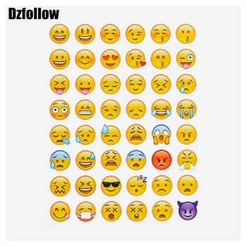 10pcs sheets hot popular sticker 480 pcs  Emoji Smile face kiss stickers  for notebook, message Twitter Large Viny Instagram