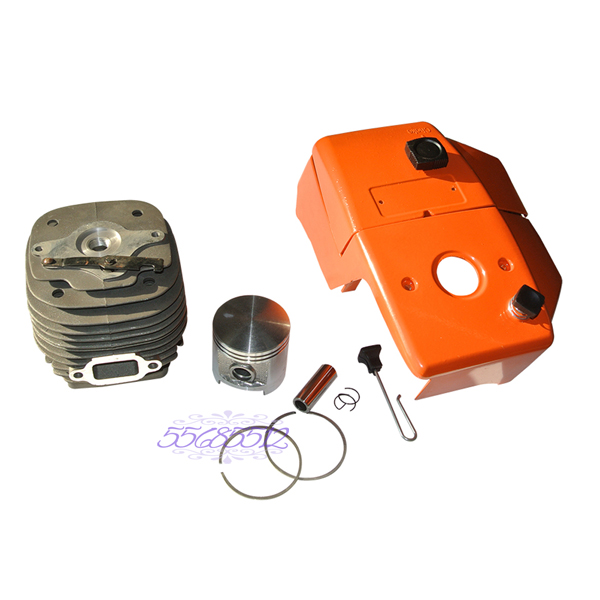Engine Cover & 58mm Cylinder Piston Pin Rings Rebuild Kit To Fit Stihl 070 090 Chainsaw Engine Parts