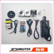 Piezas de la máquina de grabado láser, 2 ejes baord control + motor paso a paso + FUENTE de alimentación 12V3A + cinturón + engranaje + USB cable + 500 mw láser