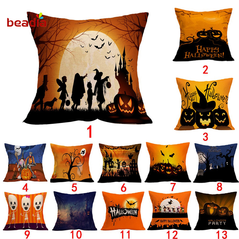 44x44cm Halloween Pumpkin Bat Owl Pattern For DIY