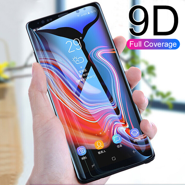 9D Curved Tempered Glass 0n the For Samsung Galaxy note 9 note 8 Screen Protector For Samsung S8 S9 plus S6 S7 edge glass Film