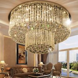 Darmowa wysyłka nowy projekt 2 warstwy lampy kryształowe Dia800 * H360mm nowoczesne lustre kryształ żyrandol w holu hotelu światła