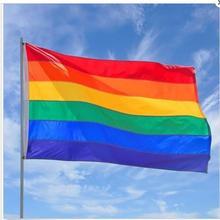 Homosexual Pride Dainty Multi Color Fabric Flag