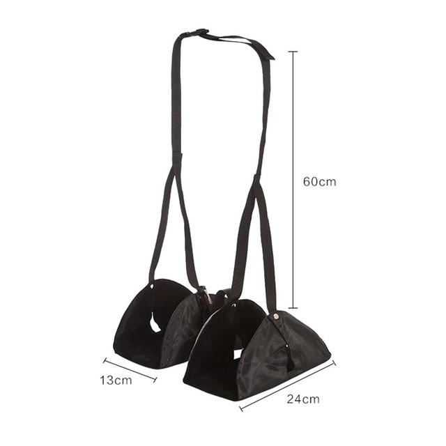 """Foot Hammock"" – Travel Foot Rest for Flight/Train – Carry-On Adjustable Portable Foot Support"