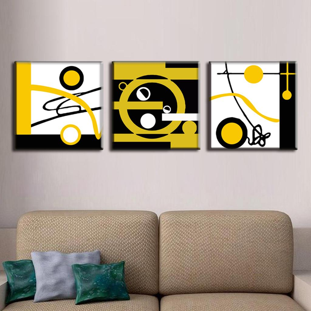 3 Pcs/Set Abstract Canvas Wall Art Blocks Of Color And Circle Canvas Prints  Decorative Picture Canvas Painting 3 Pieces In Painting U0026 Calligraphy From  Home ...
