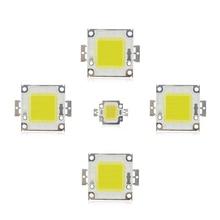 Светодиодный чип COB 10 Вт, 20 Вт, 30 Вт, 50 Вт, высокая мощность, интегрированный чип, лампа, бисер, DIY, светодиодный прожектор