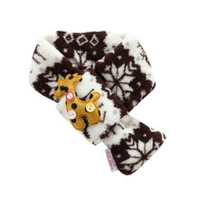 2018 Winter Warm Fuzzy Dog Christmas Soft Block Scarf Pet Puppy Holiday Neck Acc