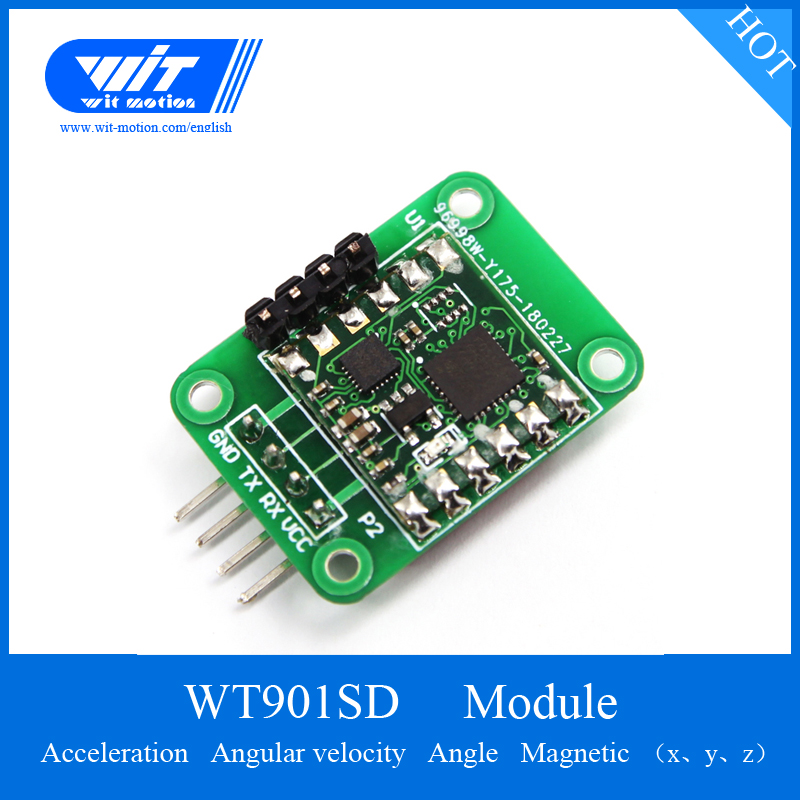WitMotion WT901SD Sensor 3 Axis Digital Angle Accelerometer Gyroscope Magnetometer MPU9250 Module With 16G SD Card