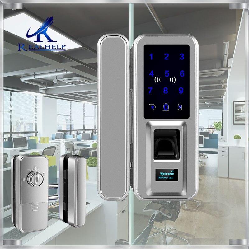 Serrure intelligente sans clé d'écran tactile de serrure d'empreinte digitale avec le clavier et l'écran d'affichage à cristaux liquides pour des serrures biométriques de porte de coffres-forts de bureau à la maison