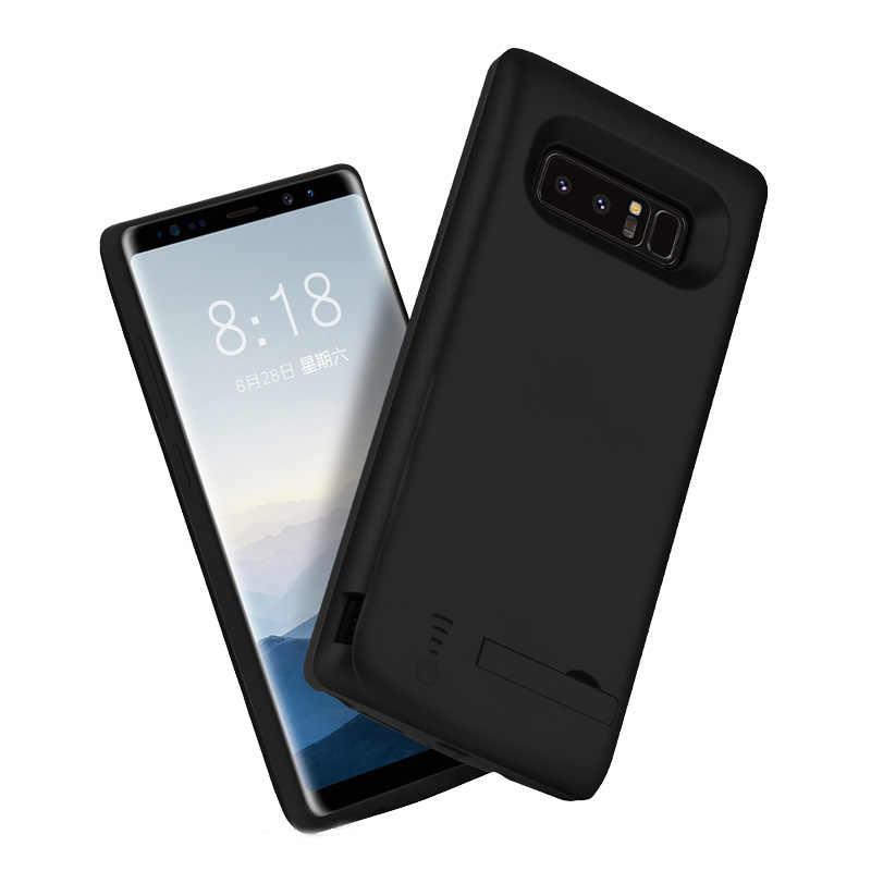 Caso da bateria do telefone móvel 6500 mah para samsung galaxy note 8 note8 caso carregador de bateria externa power bank carregamento capa
