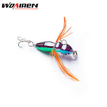1Pcsa 4.5cm 3.6g Insect Lure Bass Fishing Double Hooks Bait Crankbaits fishing Tackle Top water Gear Accessories 8 colors YR-186