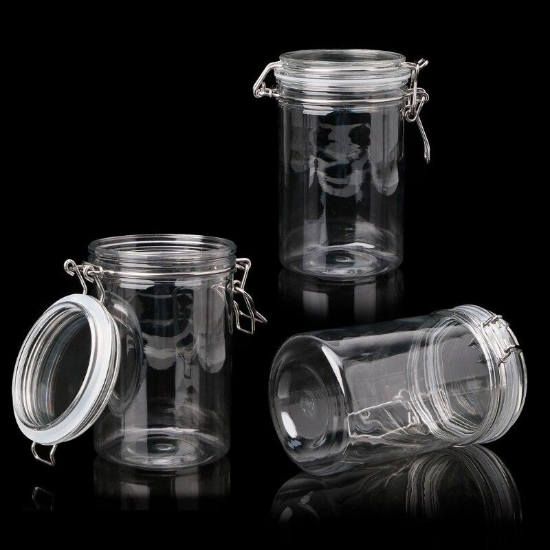food storage jar with air tight sealed metal clamp lid for. Black Bedroom Furniture Sets. Home Design Ideas
